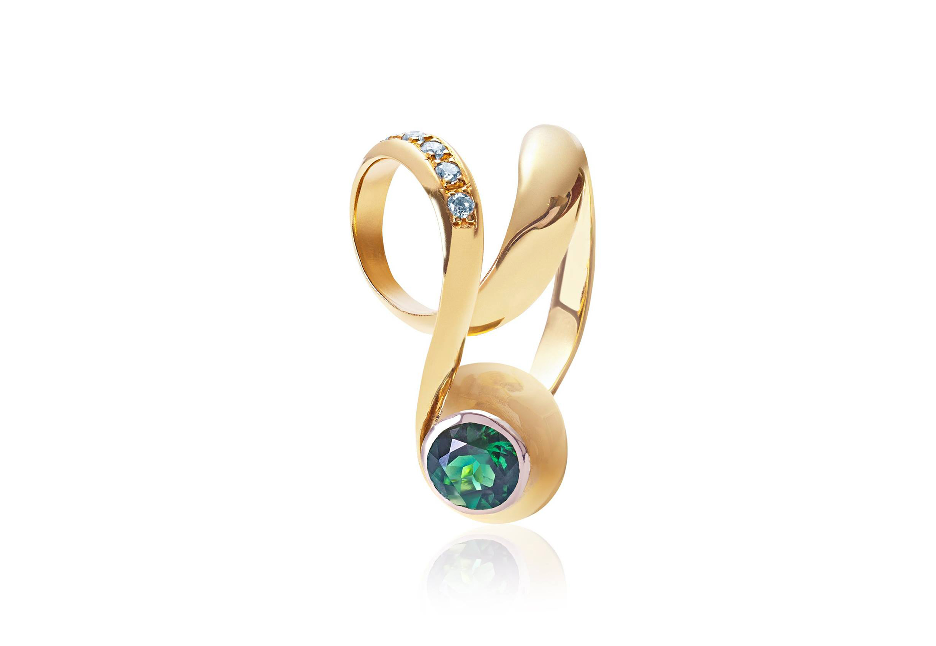 id diamond j sapphire jewelry green ring for karat sale anton tourmaline cocktail star barbara at rings master gold